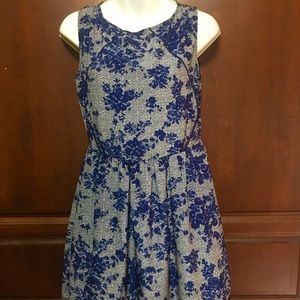 Olive and Oak blue skater dress 👗 size small